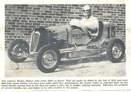 Curley Mills First Offenhauser Speedcar