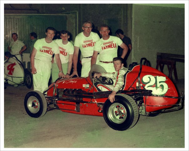 George Tatnell in his Midget Speedcar days