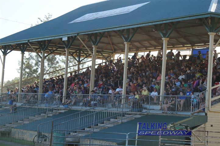 Some of the crowd waiting on the action to start at Lismore
