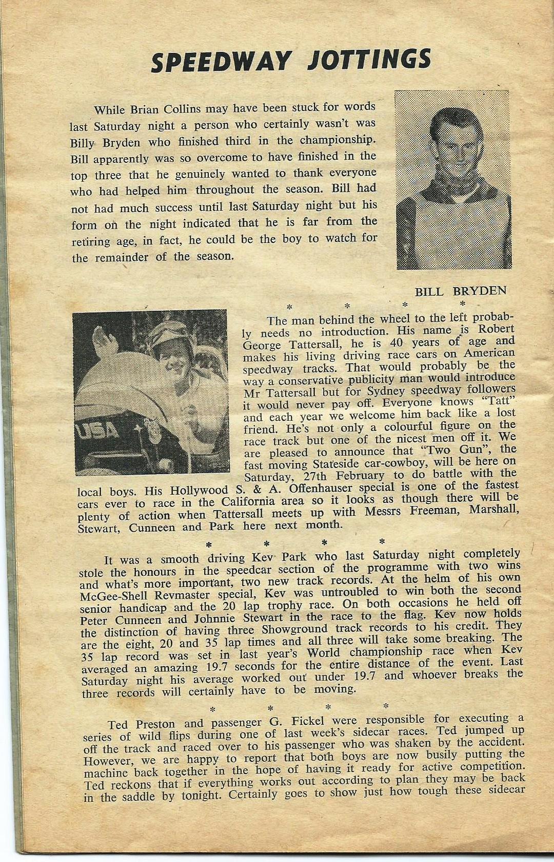 Speedway Jottings Jan 3 1965