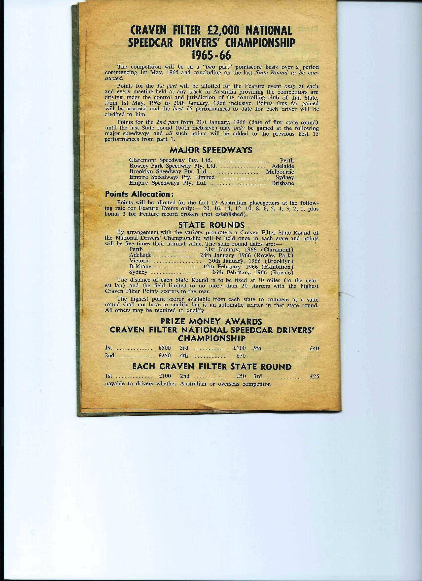 Craven Filter details 1965-66