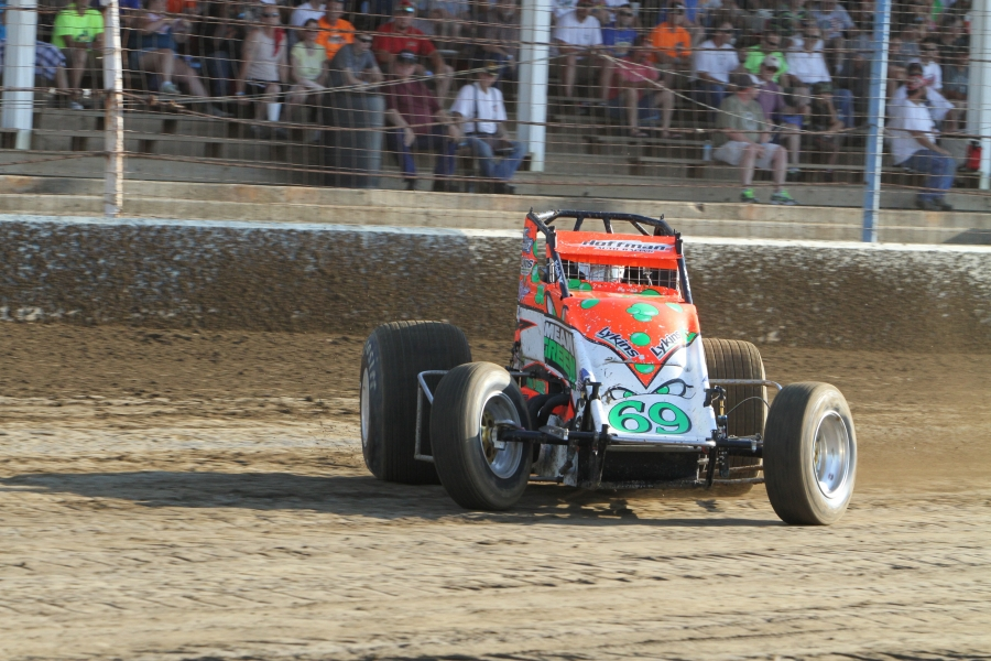 Brady Bacon currently leading the USAC AMOILS Championship Photo credit USAC