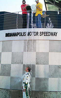 Indy Ice Bucket Challenge  Ed Carpenter
