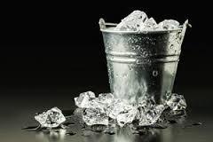 Ice bucket ice