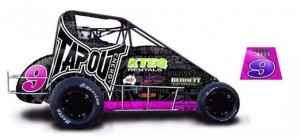 Great livery on the Bennett Motorsports car in WA that Mark Brown will run the Speedcar Pro Series