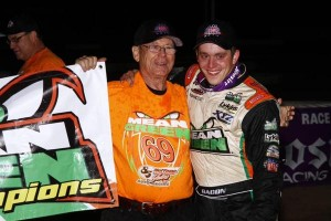 Brady Bacon with Team Owner Richard Hollman pic- USAC