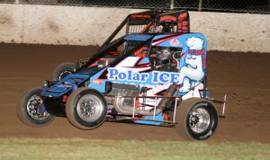 Clarke inside fron lifts as he charges under Smee at Lismore  Pic credit Tony Powell