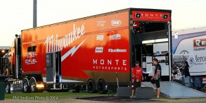 This is the transporter that will carry the Hirst Monte Motorsports race car pic credit Phil Jordison