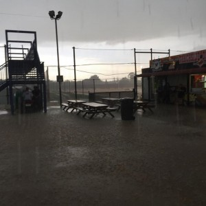 Valvoline Raceway under attack from mother nature  Pic credit - Valvoline Raceway