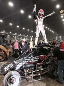 Bryan Clauson in victory lane Preliminary night 4 Pic - Racing Boys