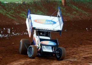 Donny Schatz on his way to winning the  Sprintcar National Open in Brisbane  Credit Ben Graham Zoomxtrme.com