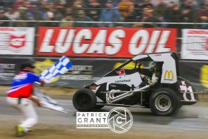 Kyle Larson wins opener at Chili Bowl  Credit Patrick Grant Photo