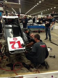 The Kunz Toyota team working hard to ready the Beast  Credit Joshua Skelton