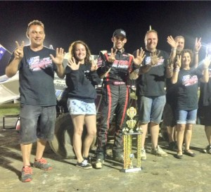 Bryan Clauson and the winning Team at Lismore POWRi