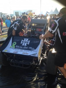 After poor qualifying team changes the engine in the KMS car