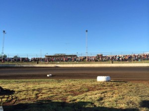Perfect weatherover the Toowooba Speedbowl.A new era begins
