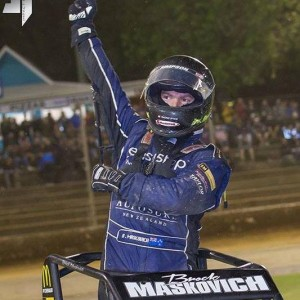 Brock Maskovic celebrating a recent win in New Zealand