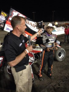 Donny Schatz wins the Texas Outlaws national WoO Pic