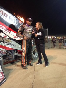 Schatz at post race interview