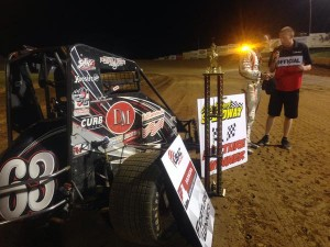 Clauson parks it at Lincoin Park for USAC Midget Week