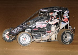 Clauson working the win at Lincoin Park