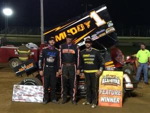 McFadden ,Blaney,Veal at Sharon Speedway