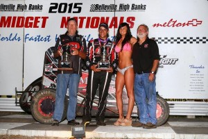 Bryan Clauson gets the Belleville High Banks Title for the second time