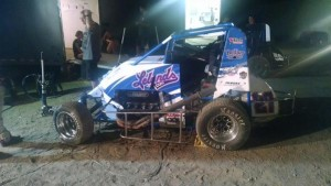 Coons before the Feature at Lincoln Pic -Heffner racing