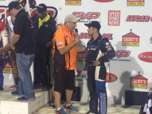 David Gravel at post race interview
