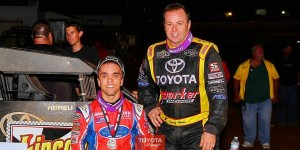 Rioco Abreu and Tracy Hines both chasing Kevin Thomas Jr for the USAC title
