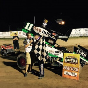 Victory for Kinser at 1-96 with the All Stars