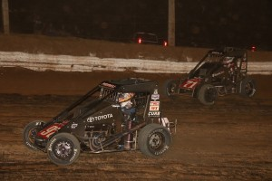 Abreu and Bell at Path Valley USAC-Pic