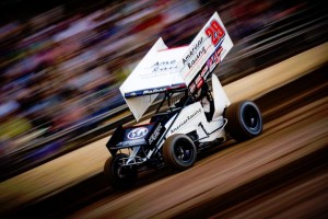 Kerry Madsen on the gas