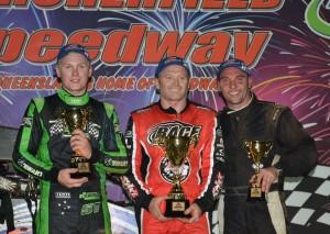 Stewart,Smee,Clarke  Pic-Archerfield Speedway