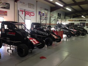 The chasers ready to be loaded for Turkey Night  Credit Keith Kunz Motorsports