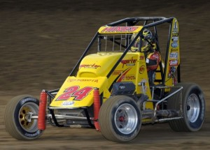 Tracy Hine and the Yellow Parker #24 USAC Credit