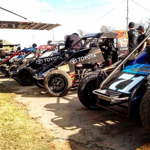 Kunz Motorsports line up Pic-Chuck Gurney